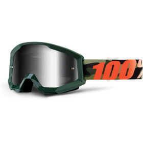 100% Strata Goggles oliven